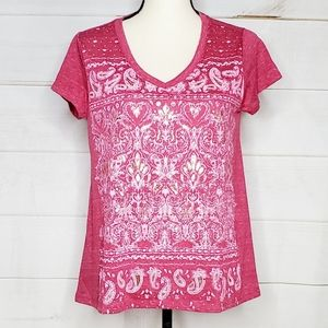 NWT Style & Co Embossed V Neck Top
